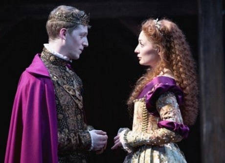 Zach Appelman (Henry V) and Katie deBuys (Catherine). Photo by Scott Suchman.