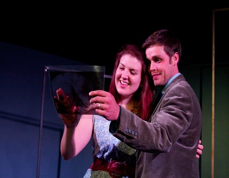 (l-r) Melissa Hmelnicky and  Brandon Cater. Photo by  Lucas Zuniga.