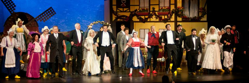 The cast of 'The Red Mill.' Photo courtesy of Victorian Lyric Opera Company.