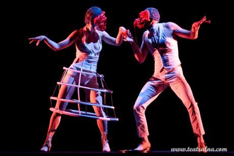 Miřenka Čechová and Radim Vizváry in 'Dante.' Photo courtesy of Atlas Performance Arts Center.