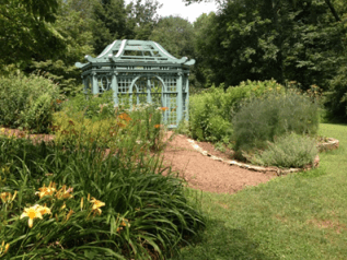 The Roger Tory Peterson Butterfly Garden dedicated to Airlie by his wife Virginia Peterson. Photo by Jordan Wright.