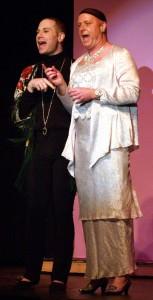 Carmen (Kevin James Logan) and Roger DeBris (Rick Roberstson). Photo by Steve Tyler.