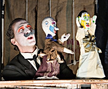 Blair Thomas and his puppet friends in 'Hard Headed Heart.' Photo by Kipling Swehla.