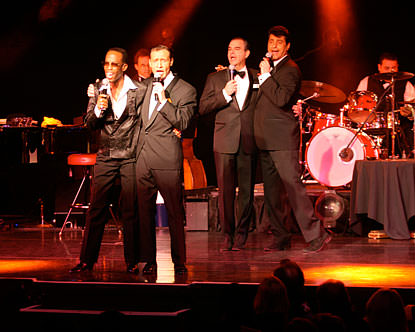 The cast of Sandy Hackett's 'Rat Pack Show.' Photo courtesy of the show.