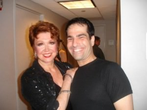 Donna McKechnie and Oleny Theatre Center's ' Chorus Line' Director and Choreographer Stephen Nachamie at 'Six Degrees of Marvin Hamlisch.'