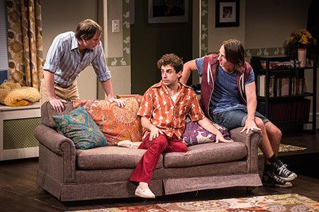Todd Lawson (Ed), Brandon Uranowitz (Arnold), and Michael Lee Brown (David). Photo by Teddy Wolff.