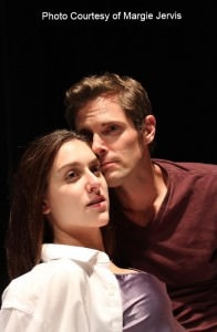 Dani Stoller, left, as HER, and Lou Steele as HIM. Photo courtesy of Creative Cauldron.