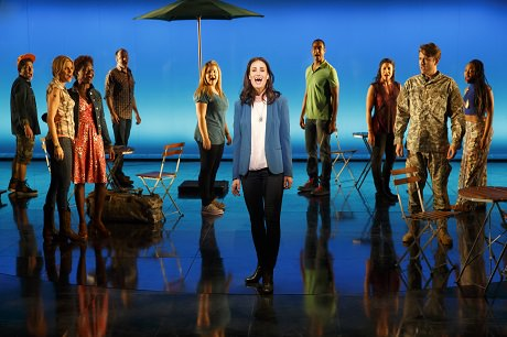 Idina Menzel and the Company of 'If/Then.' Photo by Joan Marcus.