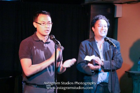 Don Michael Mendoza and Regie Cabico- your hosts of La-Ti-Do. Photo by Astagram Studios Photography.