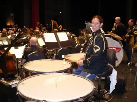 Julie Angelis Boehler, Army Timpanist.