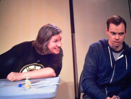Mike (Kevin Dykstra) and Kate (Tanya Baskin). Photo by Harvey Levine.