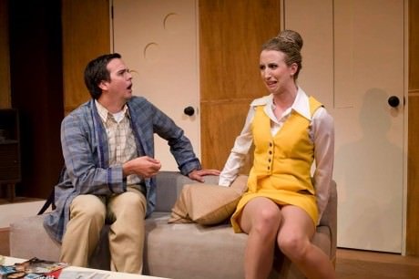 Jamie Smithson and Sarah Olmsted Thomas in 'Boeing Boeing.' Photo by Chris Maddaloni.