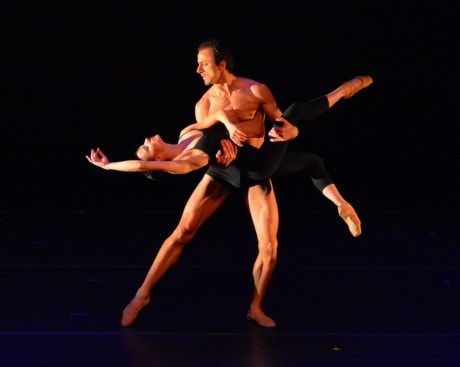 Luz San Miguel and Davit Hovhannisyan in 'Berceuse., choreographed by Diane Coburn Bruning.  Photo by Paul Wegner.