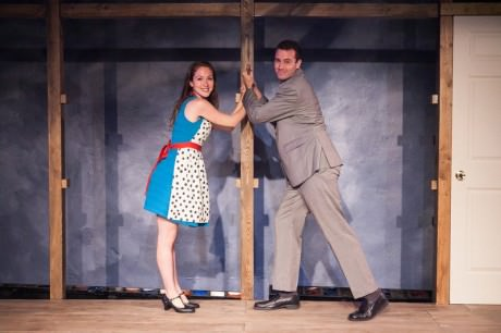 The loving couple, Cathy (left, Sarah Ferris) and Freddy (right, Matthew Sparacino). Photo by C. Stanley Photography.