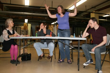 L-R, Declan Cashman, Roxanne Fournier Stone, Marianne Meyers, David Dieudonne. Photo by Lennie Magida.
