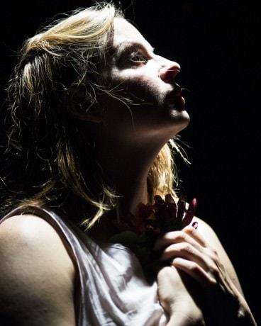Kimberly Gilbert as Ophelia. Photo by Teresa Castracane.