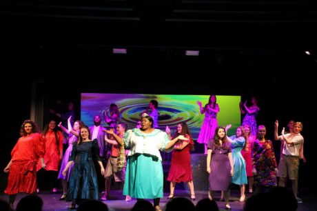 """""""I'm Outta Here"""" with Felicia Akunwafor (Oda Mae Brown) and the ensemble of 'Ghost.'"""