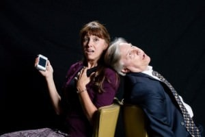 Heather Quinn (Jean) and Jim Reiter  (Gordon). Photo courtesy of Colonial Players.