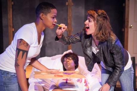Taylor Robinson, Gayle Carney, and Noelle Vinas in ''PAINTED. Photo by C. Stanley Photography.