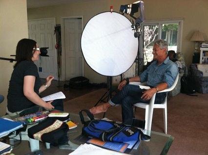Greg Louganis and filming of  'Back on Board: Greg Louganis.'