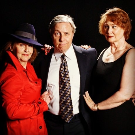 Gordon (Jim Reiter) with Hermia (Jean Berard) and The Other Woman (Darice Clewell). Photo courtesy of Colonial Players.