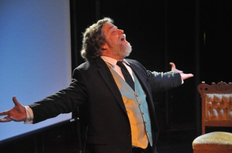 "Michael Robert Oliver in ""Song of Myself: The Walt Whitman Project.' Photo courtesy of performingknowlegeproject.com"