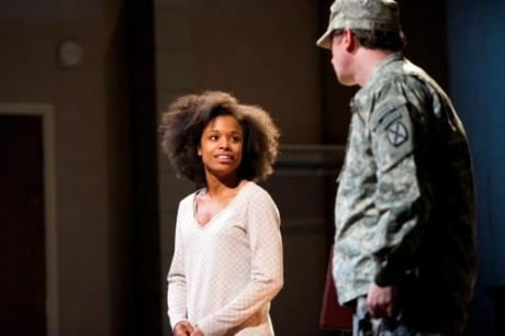 """Kaliswa Brewster (""""Alicia G."""" and Brit Whittle (""""Troop 1″).  Photo by Seth Freeman."""
