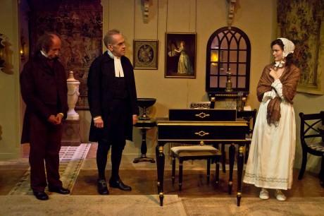 From left: John Decker (Audelle) Steve LaRocque (Berkeley), and Chelsea Mayo (Hannah). Photo by St. Johnn Blondell.