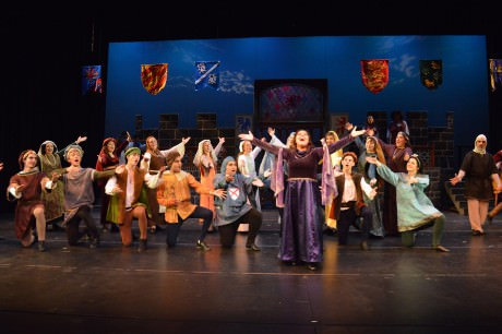 """The cast of Encore Stage & Studio's 'Once Upon A Mattress' (2014) perform """"Shy.""""  Photo by Larry McClemons."""