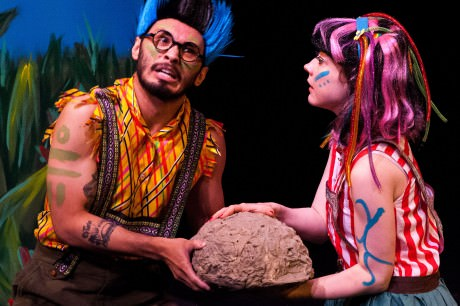 """It seems our mysterious package has reached an island inhabited not by """"Good Goods"""", but by """"The Bad Bads"""" (Ryan Dalusung and Maureen O'Rourke). Photo by Matt Rose Photography."""
