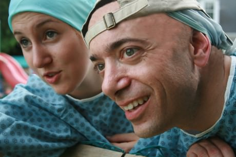 Caroline Wolfson (Dani) and Zach Brewster-Geisz (Marty). Photo by Zach Brewster-Geisz.