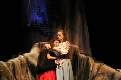 Cinderella (Kristina Hopkins) and Little Red Riding Hood (Kayli Modell). Photo by Donna Hopkins.