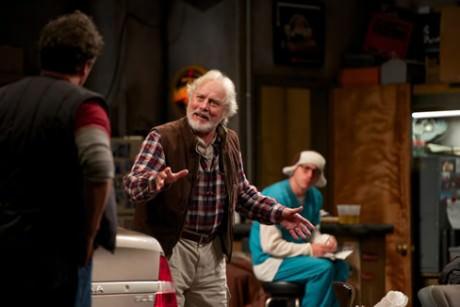 Michael Goodwin (l) as Zee and Jason Babinsky (r) as Larry. Photo by Seth Freeman.