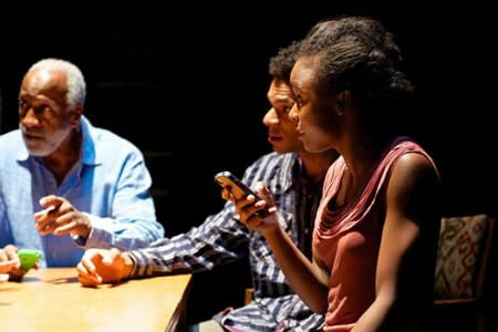 Willie C. Carpenter as Clay (l), Biko Eisen-Martin as Jeremiah, and and Kaliswa Brewster as D. Photo by Seth Freeman.