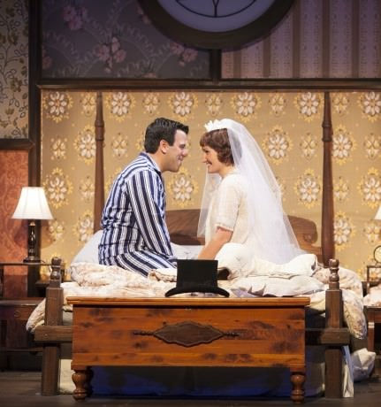 Craig Laurie and Daniella Dalli staring in Infinity Theatre Company's I Do! I Do! Photo courtesy of Infinity Theatre Company.