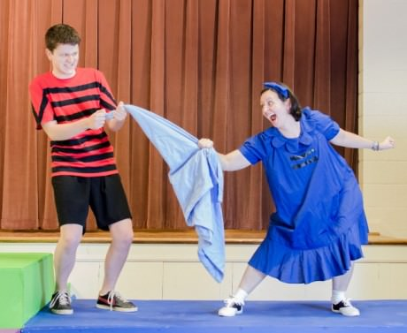 Linus (L- Quentin Patrick) and Lucy (R- Laura Marchiano). Photo by Brighter Futures Photography.