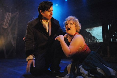 Valjean (David Merrill) and Fantine (Michelle Hill). Photo by Ernie Achenbach.