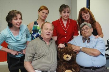 Seated: Bill DeBrason, Marc Rehr; Standing:  Anne Hull, Nina Harris, Joanne Bauer, and Barbara Webber. Photo by  Fred Bentley.