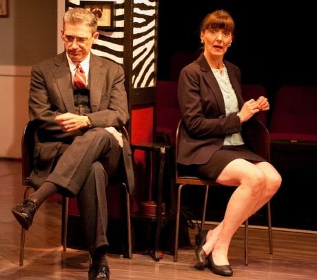 Alan (L- Dan Collins) and Annette (R- Margaret Condon).  Photo by Chris Aldridge, CMAldridgePhotography.