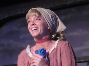 """Mary Ellen Cameron Singing """"I Dreamed a Dream' at 'Les Misérables.' Photo courtesy of Way Off Broadway Dinner Theatre."""