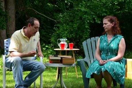 Karl Kendryk (Bob Kleinberg) and Lisa Koletski (Hillary Glass). Photo courtesy of  Emily Canavan and John Ward.