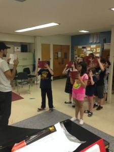 In rehearsal. Photo by Kirstin Boyd.