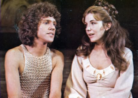 John Rubenstein (Pippin) and Jill Clayburgh (Catherine) in the Original Broadway Production of 'Pippin.'