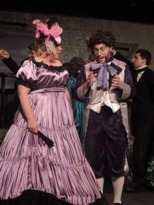 - Madame Thenardier (L- Marcia Franklin) and Thenardier (Matthew Crawford). Photo courtesy of Way Off Broadway.