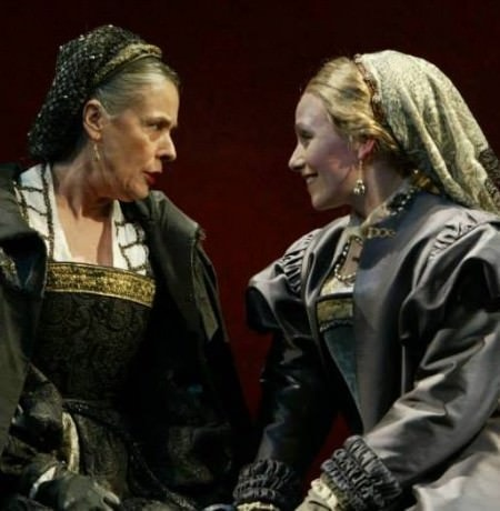 "Tana Hinken and Marni Penning Coleman in 'Lorenzaccio' at Shakespeare Theatre Company in 2004. ""With the incomparable Tana Hicken playing my mother."""