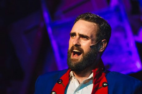 "Tom Zepp (Jean Valjean) sings ""Bring Him Home."" Photo by Kevin Grall."