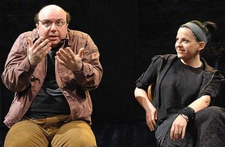 Darius Pierce and Kimberly Gilbert in 'Stupid Fucking Bird.' Photo by Stan Barouh.