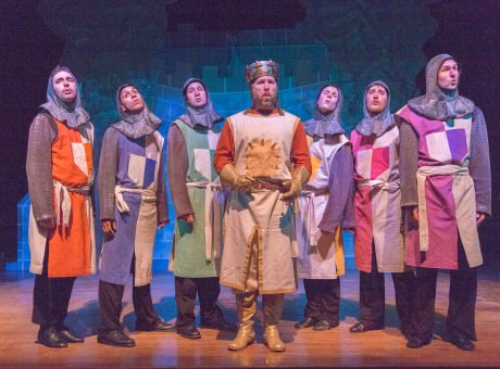 James Hotsko Jr. as King Arthur with the Knights of the Round Table. Photo by Keith Waters for KX Photography.