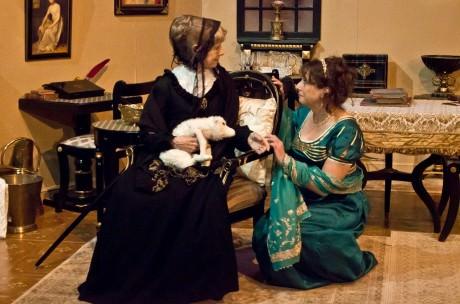 From left: Jane Squier Bruns (Grandie) and Michele Osherow (Madeleine). Photo by St. Johnn Blondell.