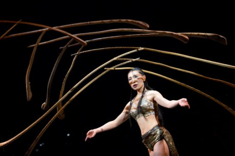 Lili Chao performs at the 'Cirque Du Soleil Amaluna' dress rehearsal at Citi Field on March 19, 2014 in New York City. Photo by Noam Galai/WireImage.